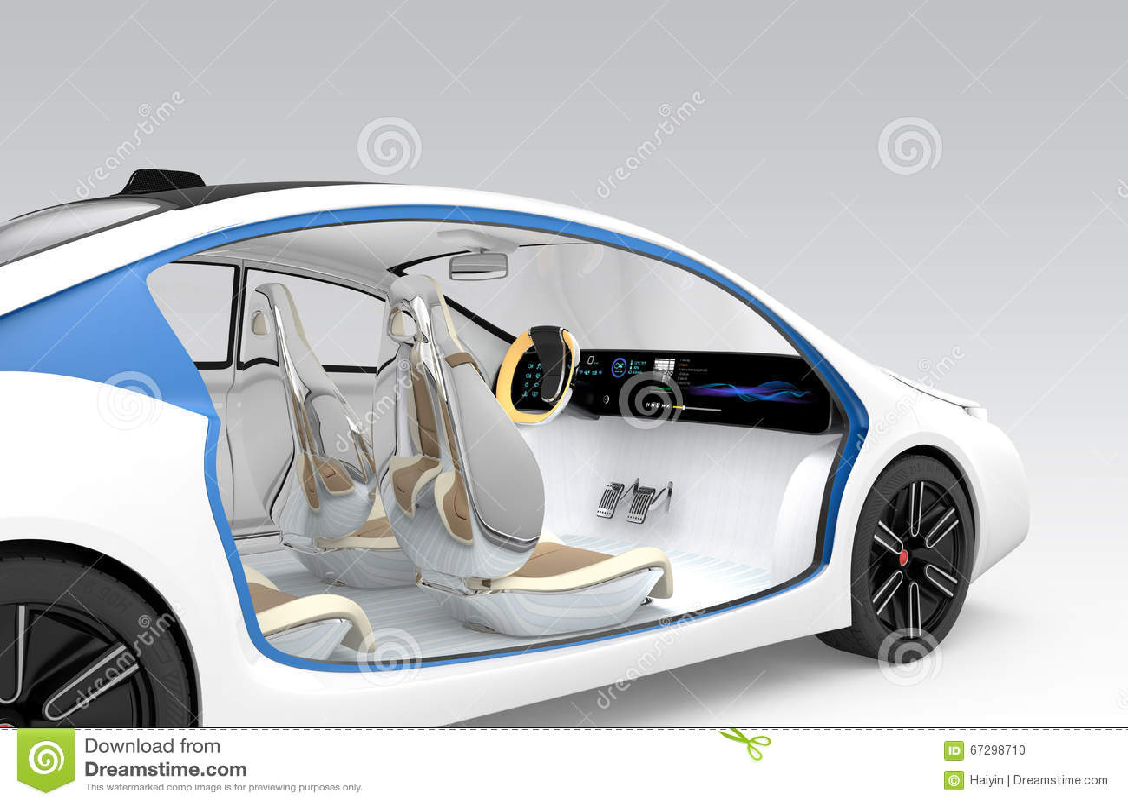Autonomous Cars Interior Concept The Car Offer Folding