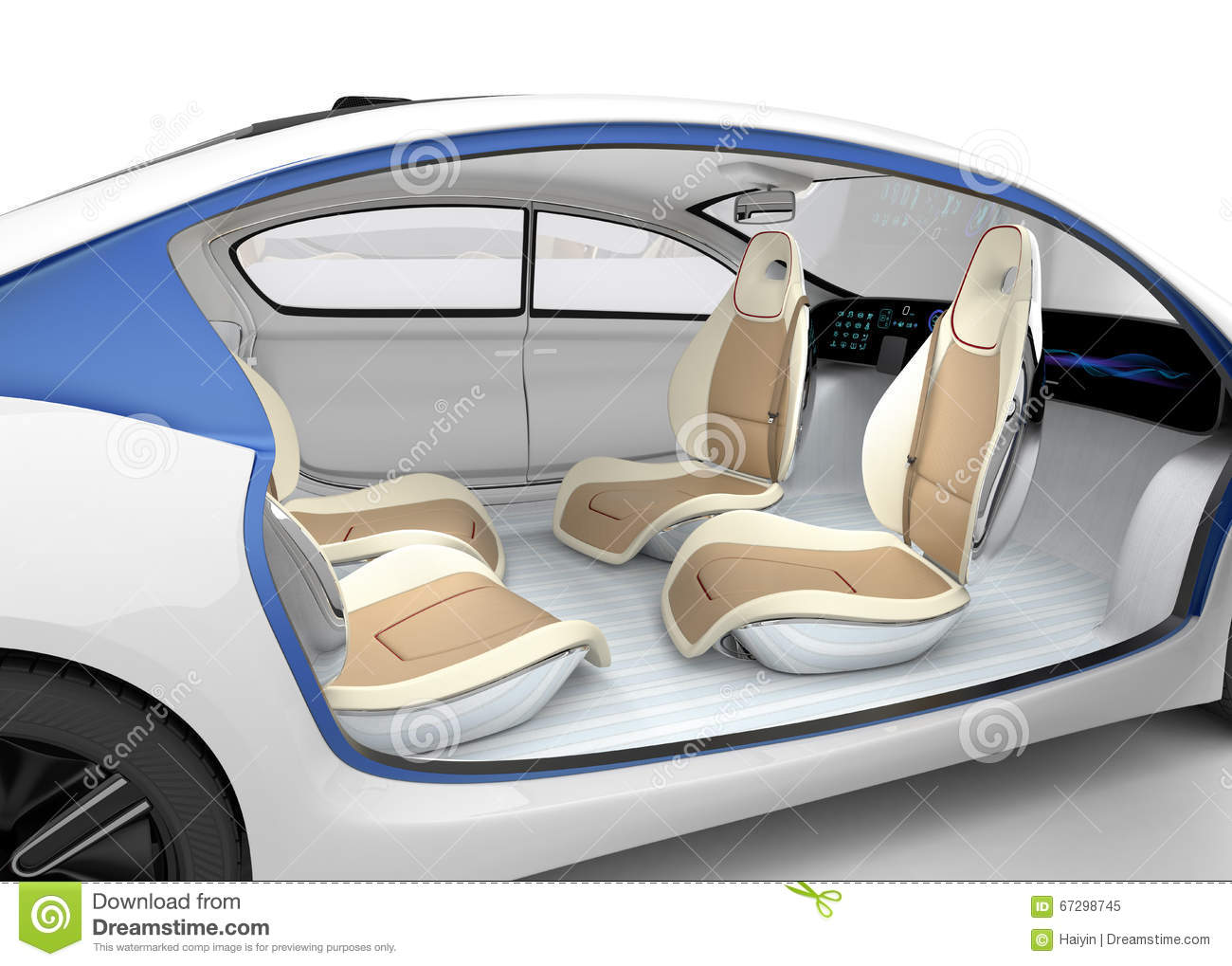autonomous car 39 s interior concept the car offer folding steering wheel rotatable passenger. Black Bedroom Furniture Sets. Home Design Ideas