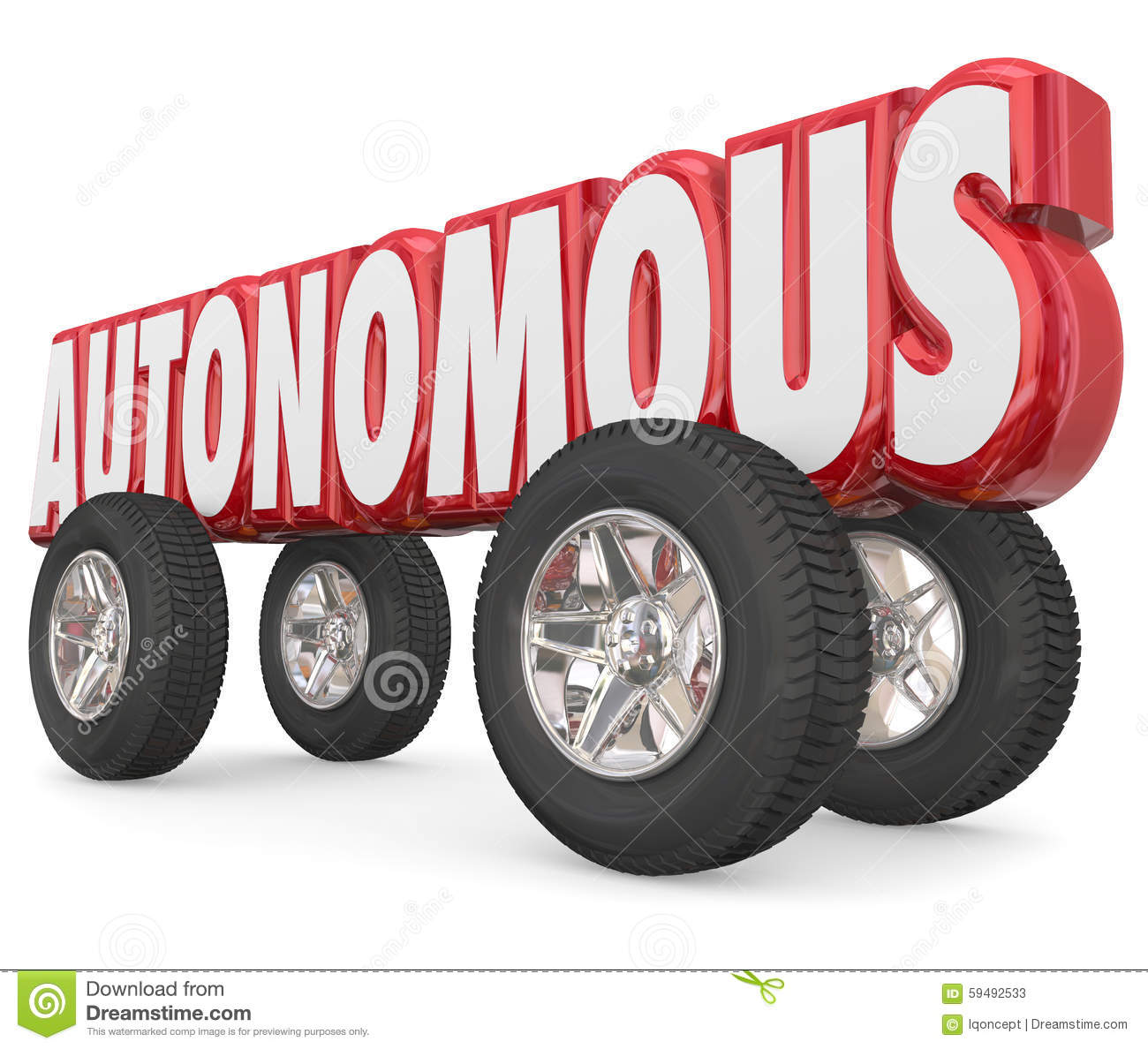 autonomous vehicles in parking lot for sharing royalty