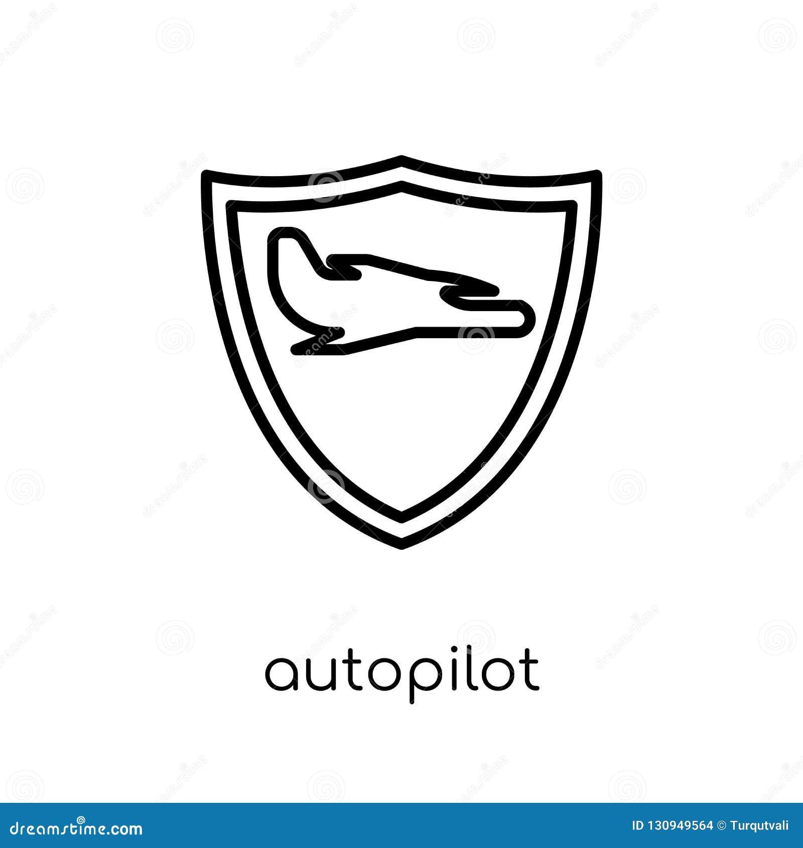 autopilot icon. Trendy modern flat linear vector autopilot icon