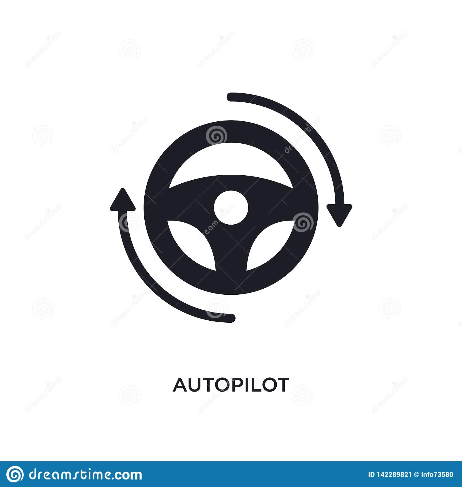 autopilot isolated icon. simple element illustration from general-1 concept icons. autopilot editable logo sign symbol design on