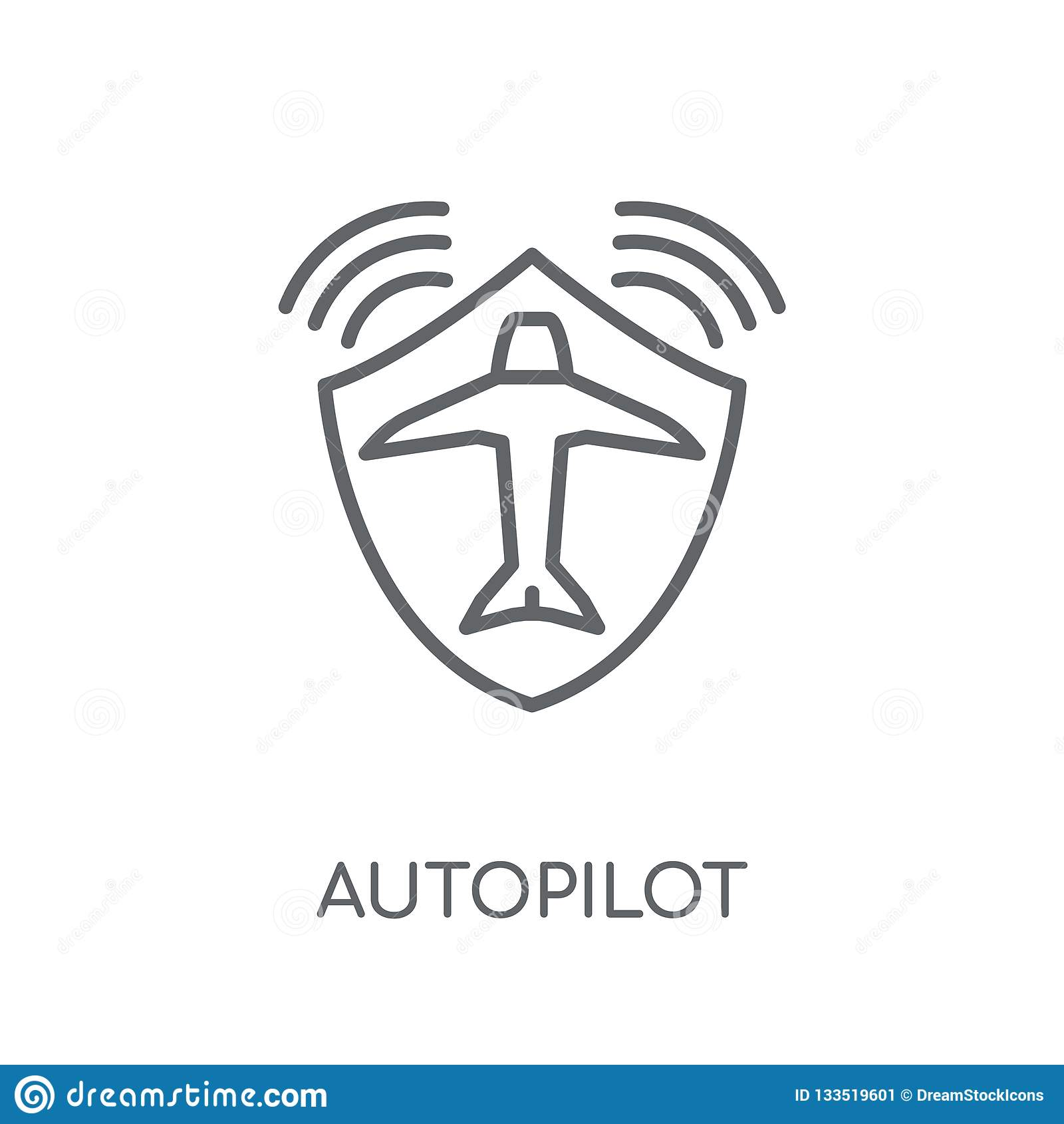 autopilot linear icon. Modern outline autopilot logo concept on