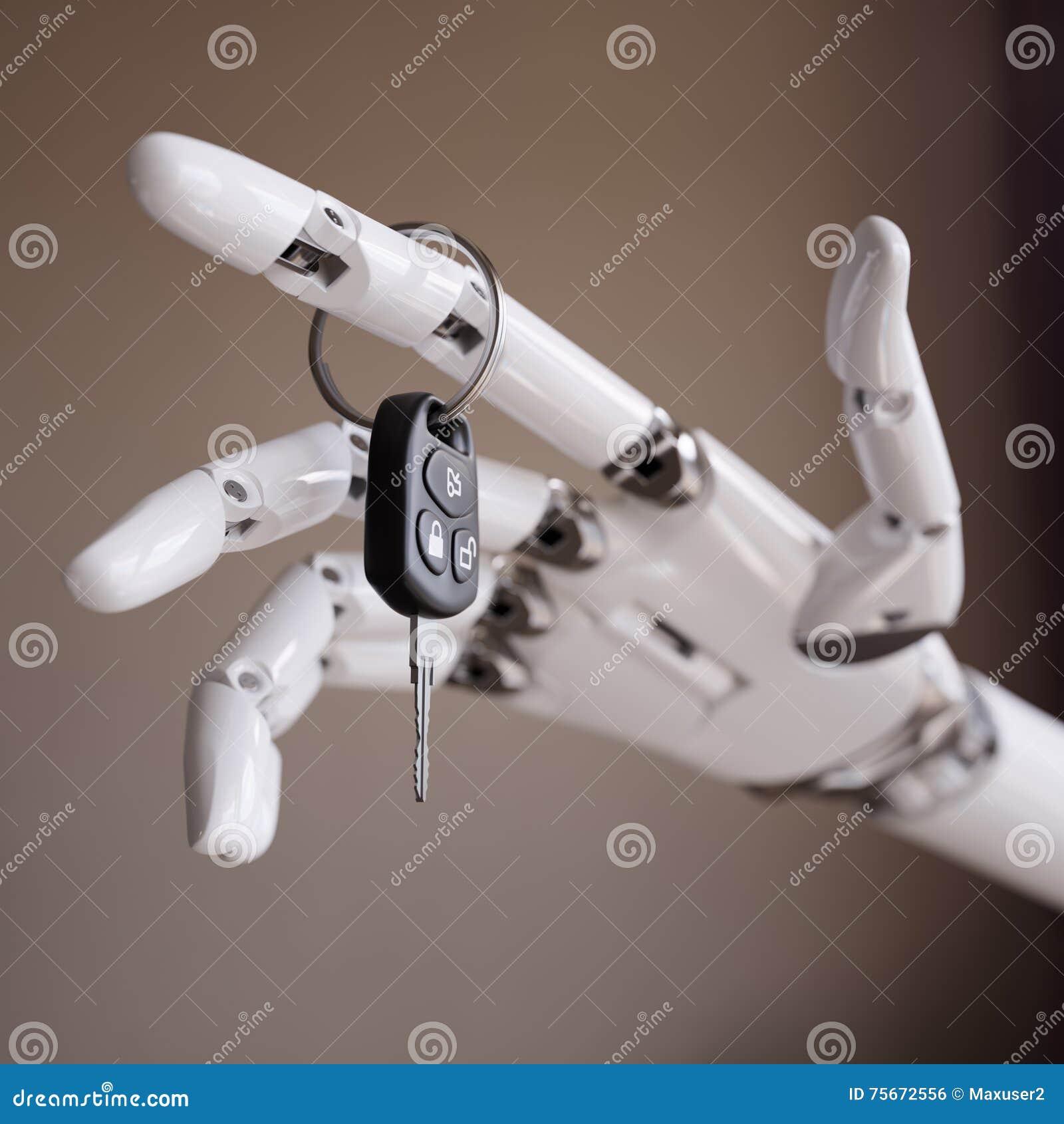 Autopilot System or Intelligent Driver Assist 3d Illustration Concept