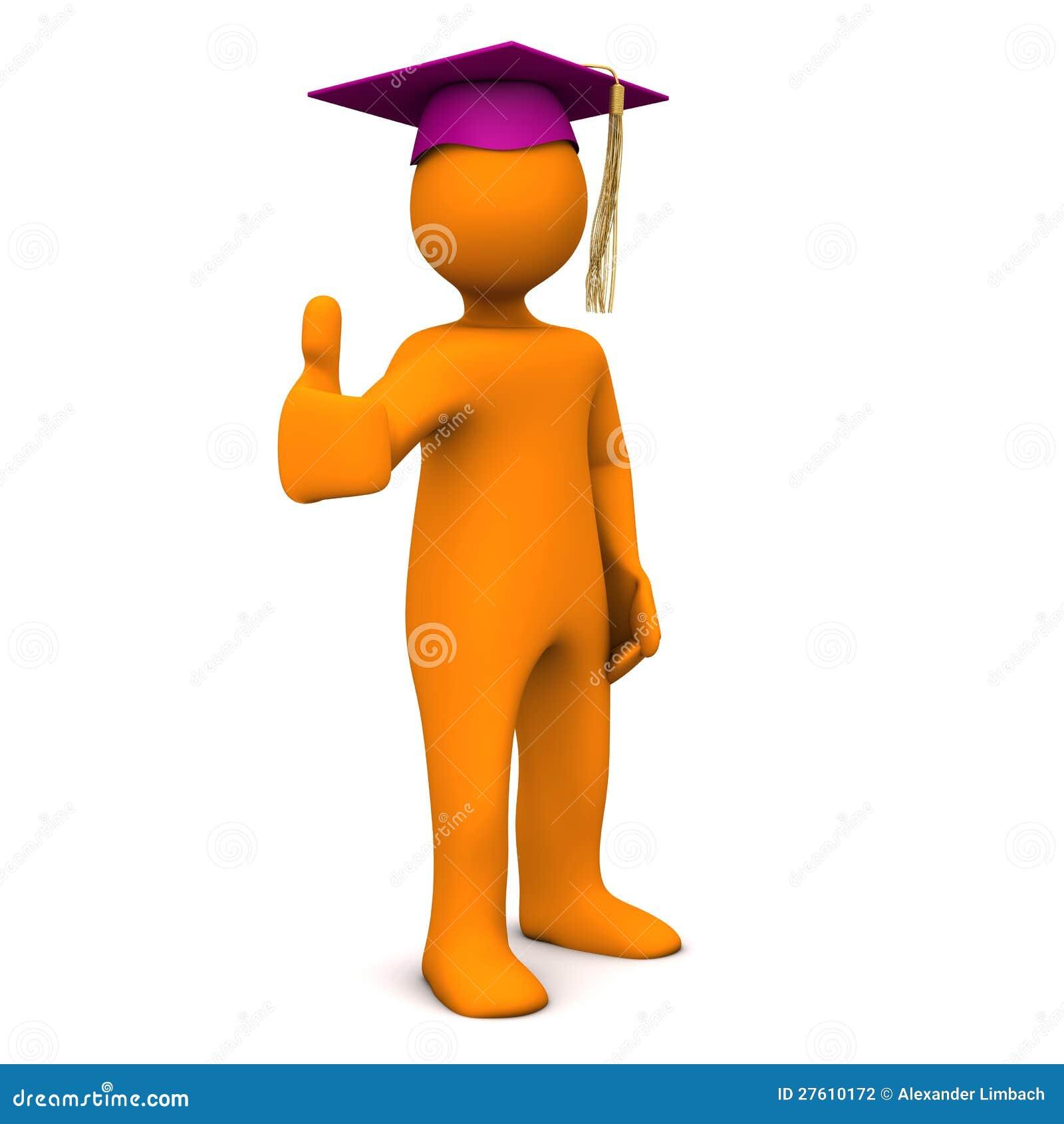 Autorización Púrpura Graduada Stock De Ilustración