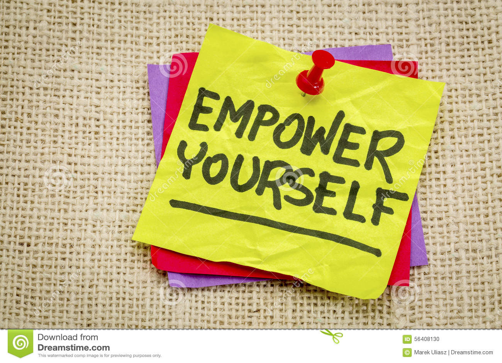 Autorize-se nota inspirador do lembrete
