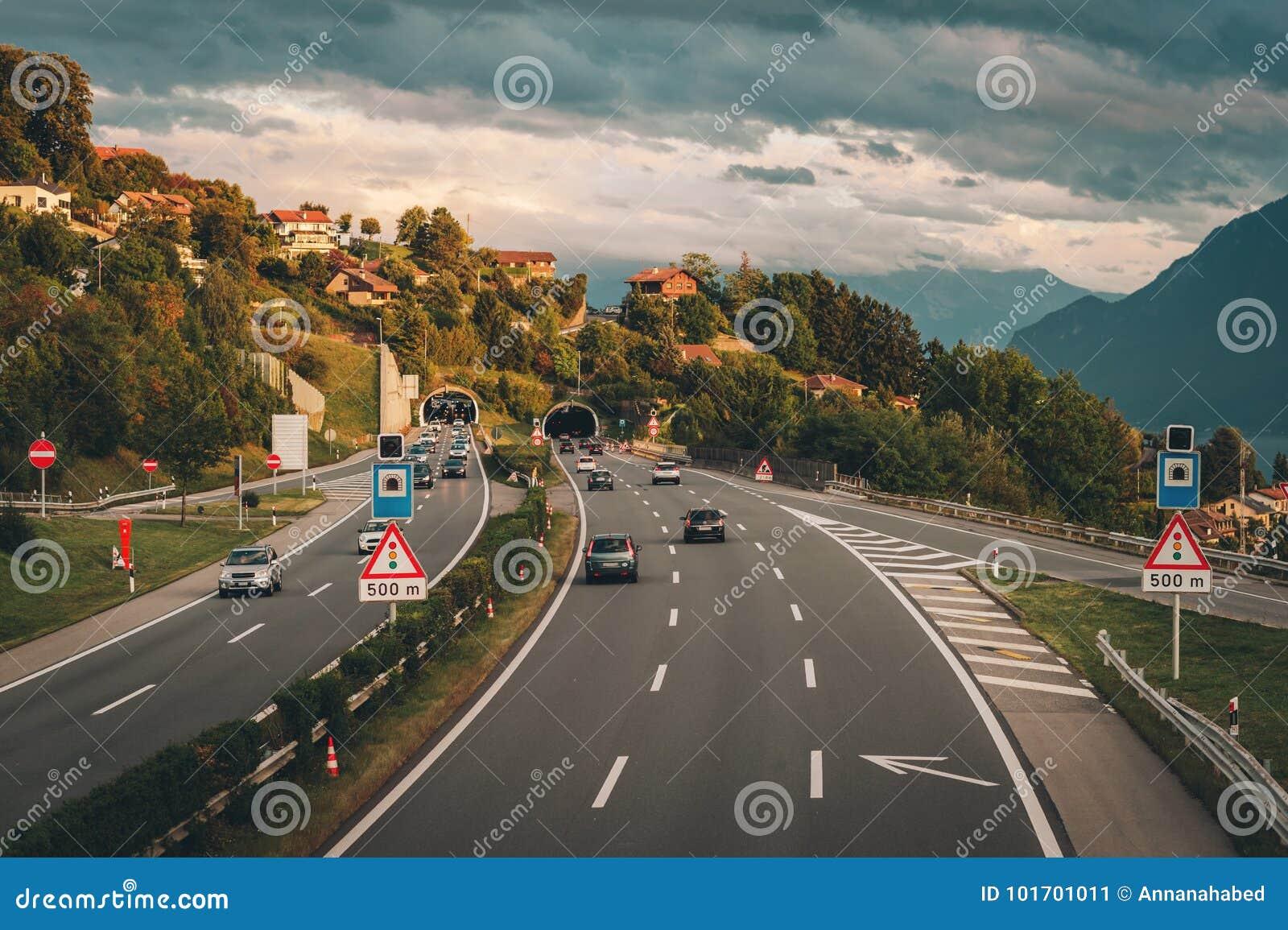 Autosnelweg in Zwitserland