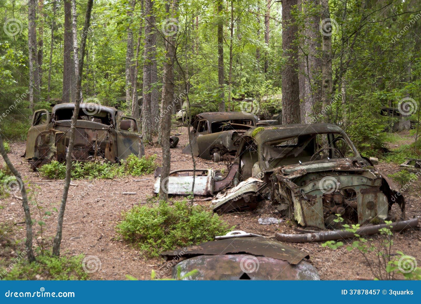 Autostortplaats in Kirkoe Mosse