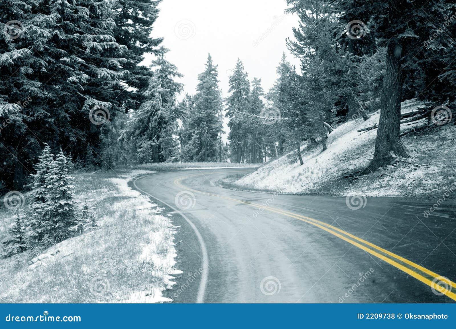 Autostrada śnieg