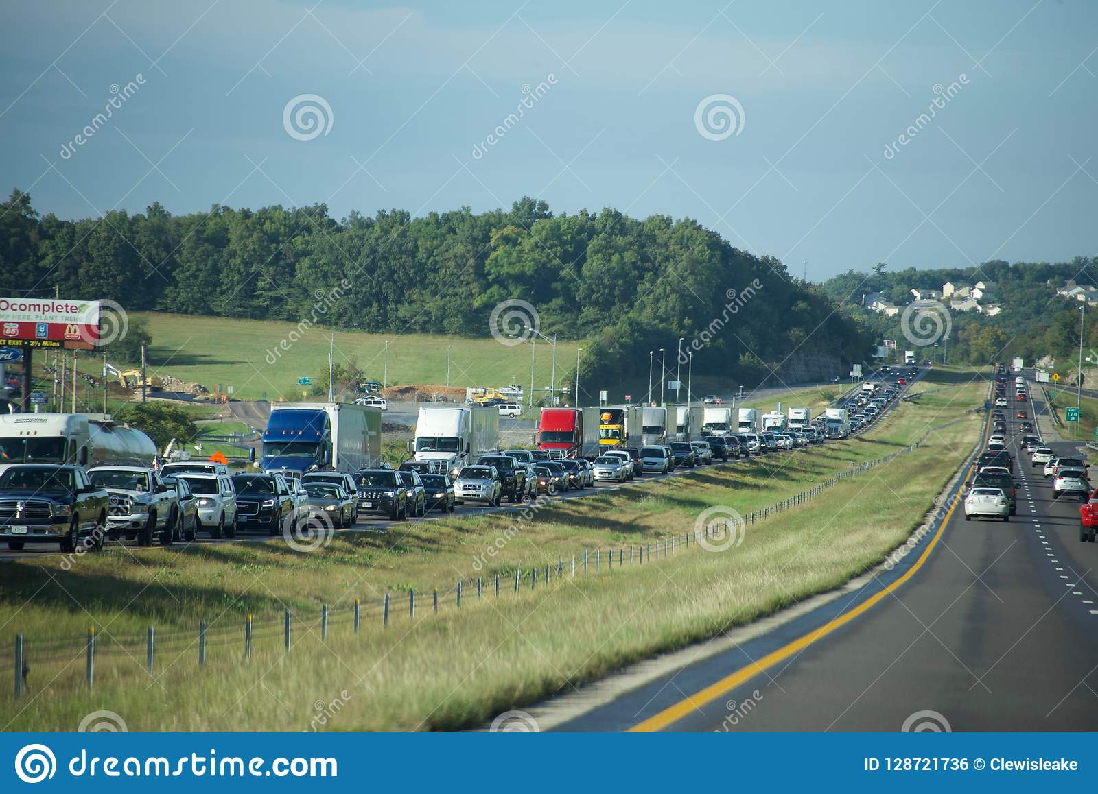 Autostrada ruchu drogowego Międzystanowy impas