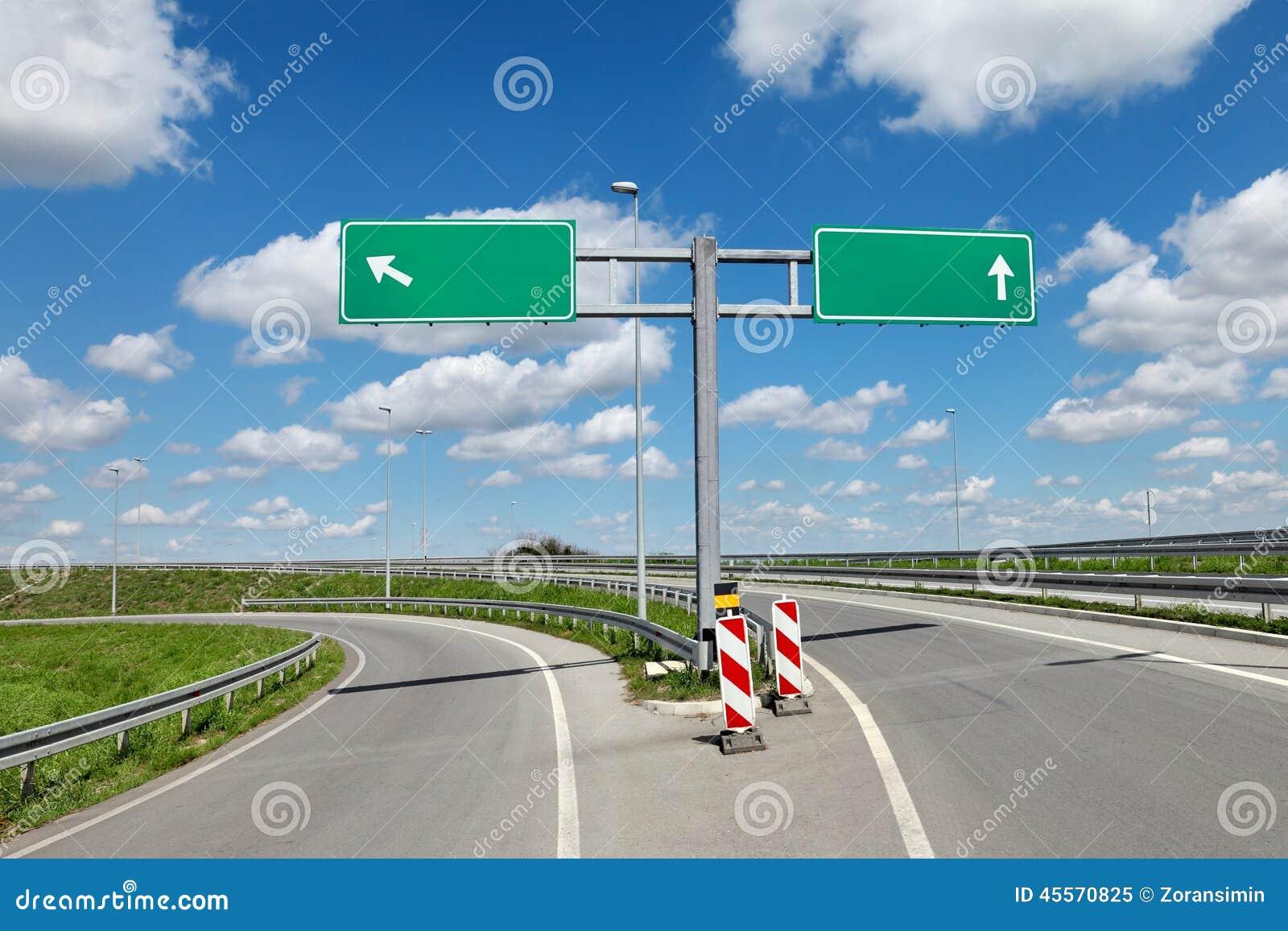 Autostrada znaki i rozdroże
