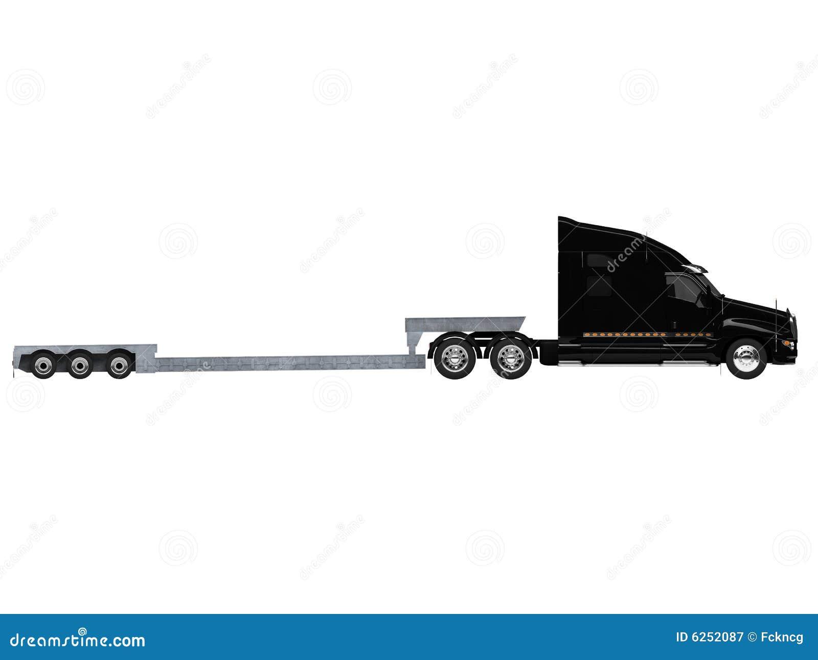 Autoträger-LKW-Rückseitenansicht Stock Abbildung - Illustration von ...