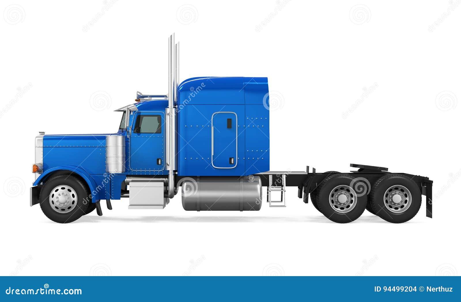 Autotreno blu isolato