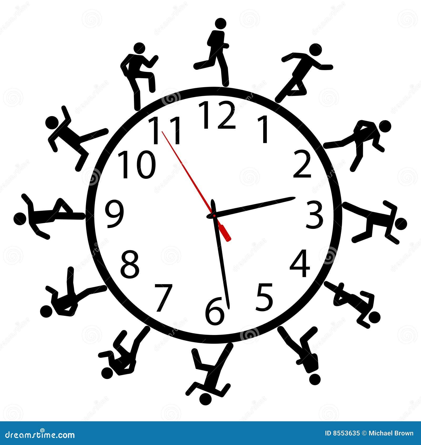 Autour du temps de symbole de passage de chemin de gens d horloge