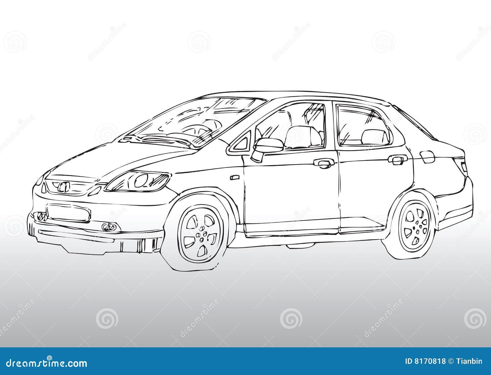 Autozeichnung vektor abbildung. Illustration von land - 8170818