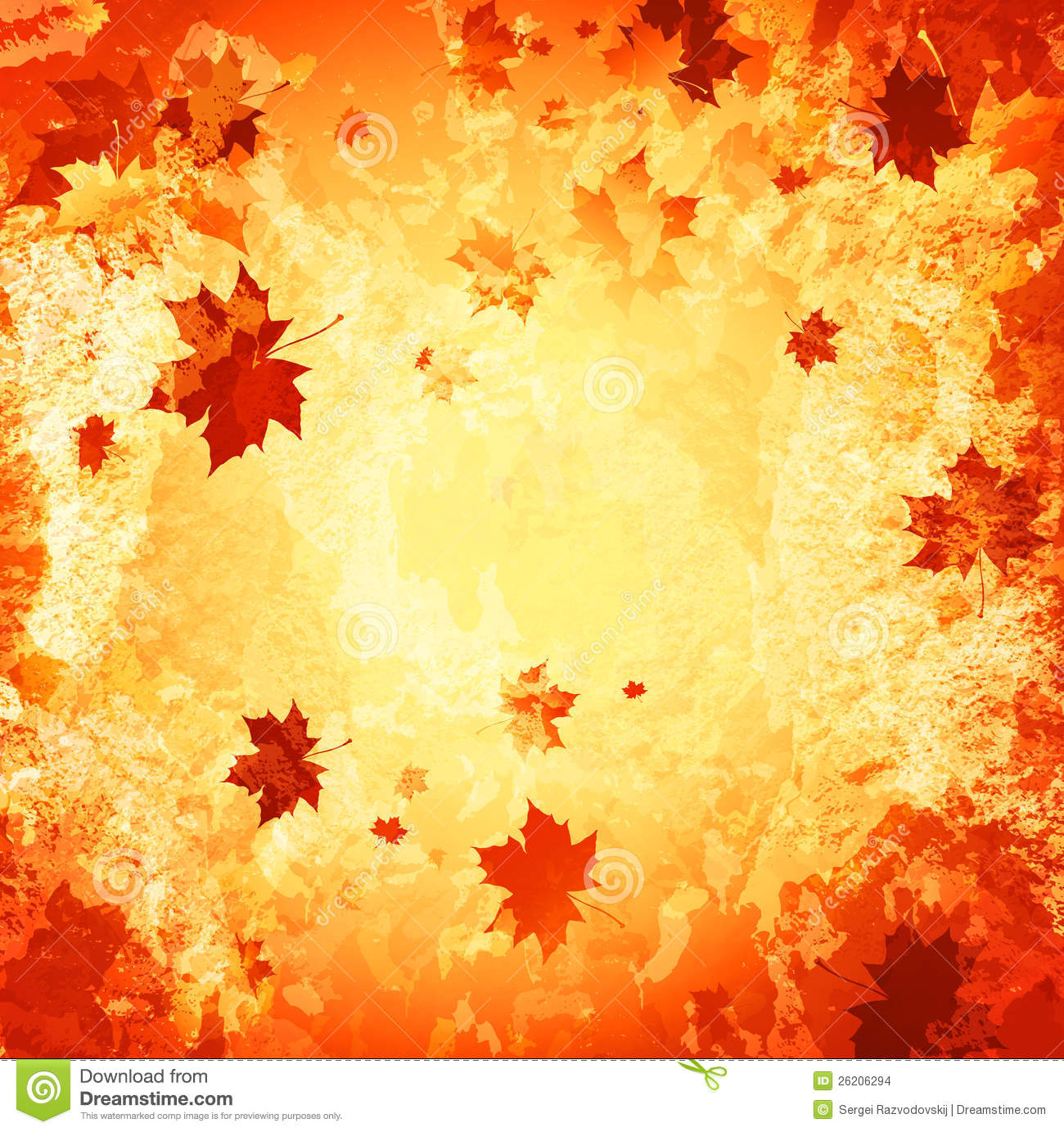 Autumn Abstract Grunge Background Stock Images