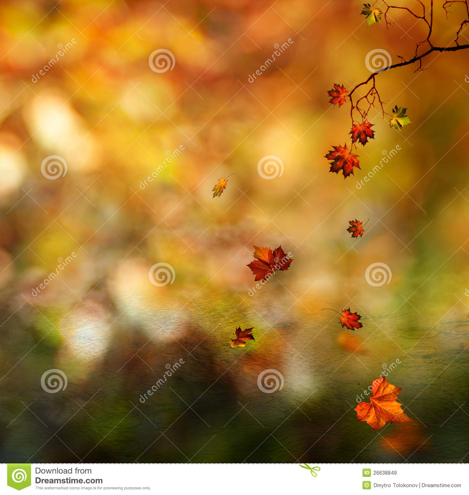 Autumn, Abstract Natural Background Stock Illustration