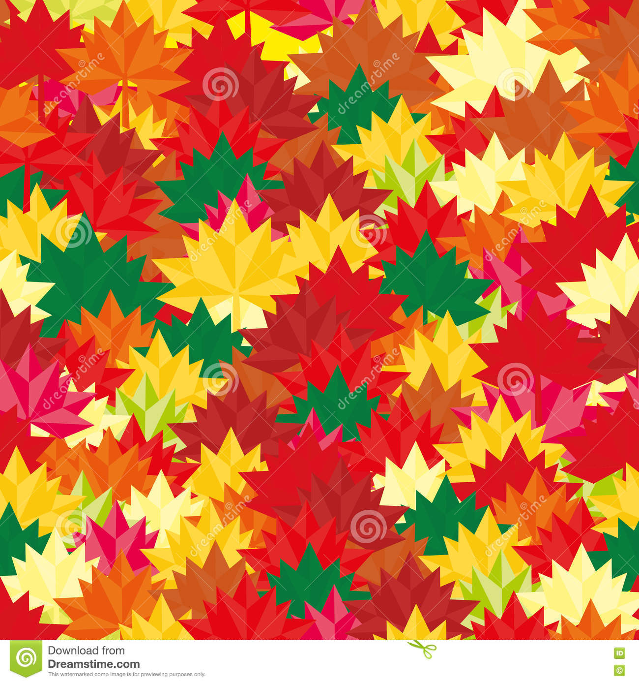 Autumn Background Abstract Leaves Square Fall Pattern For
