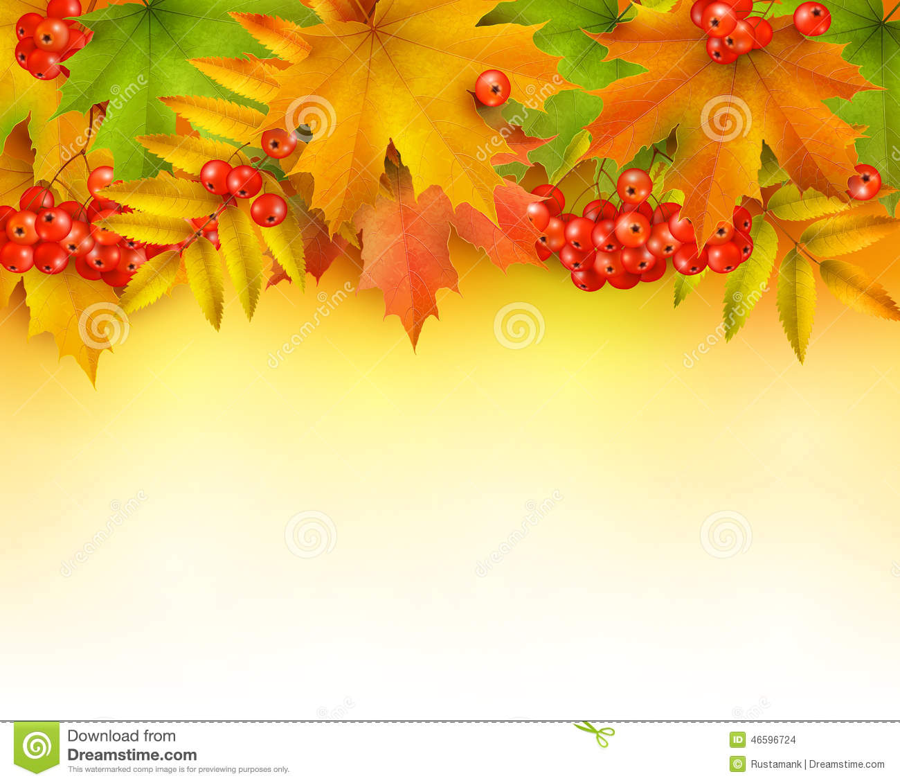 autumn background or border stock vector illustration of