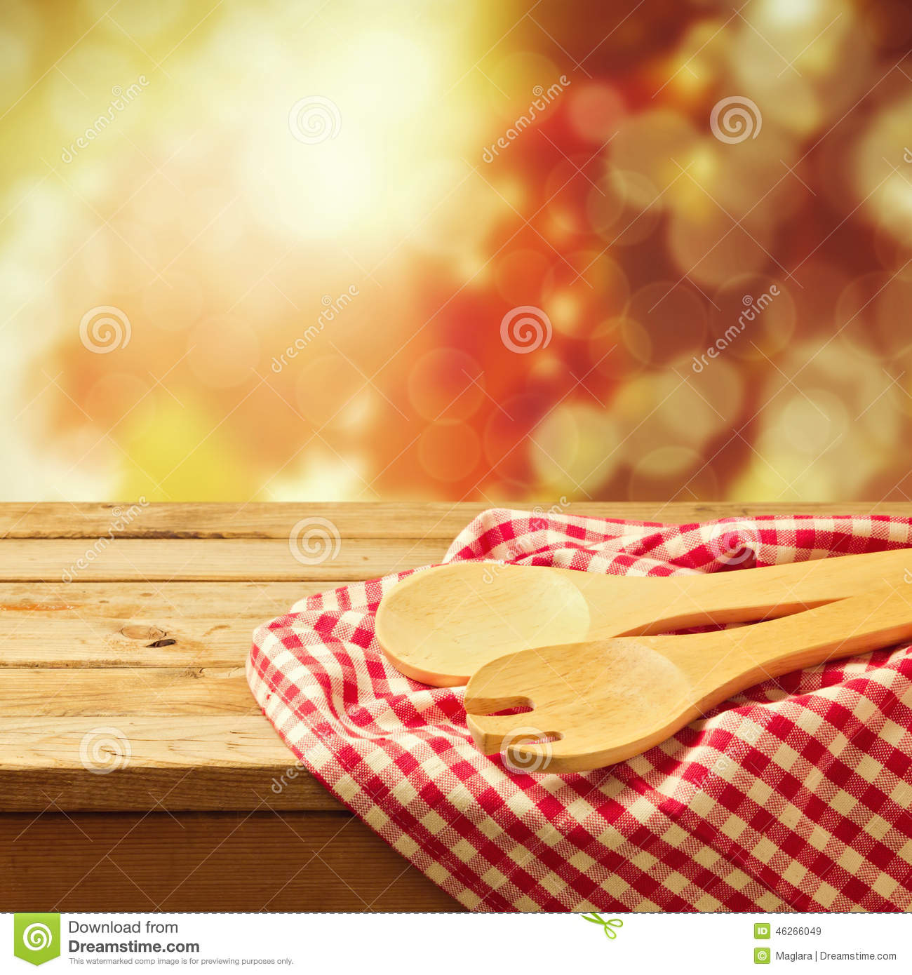 autumn background with kitchen utensil stock image image