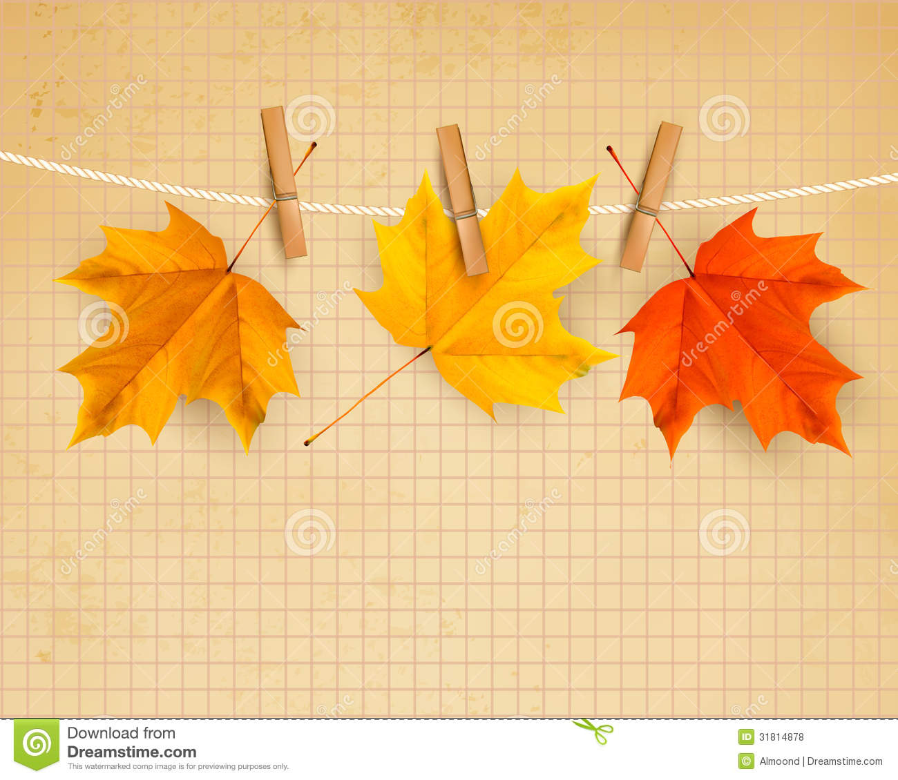Autumn Background With Leaves Back To School Royalty