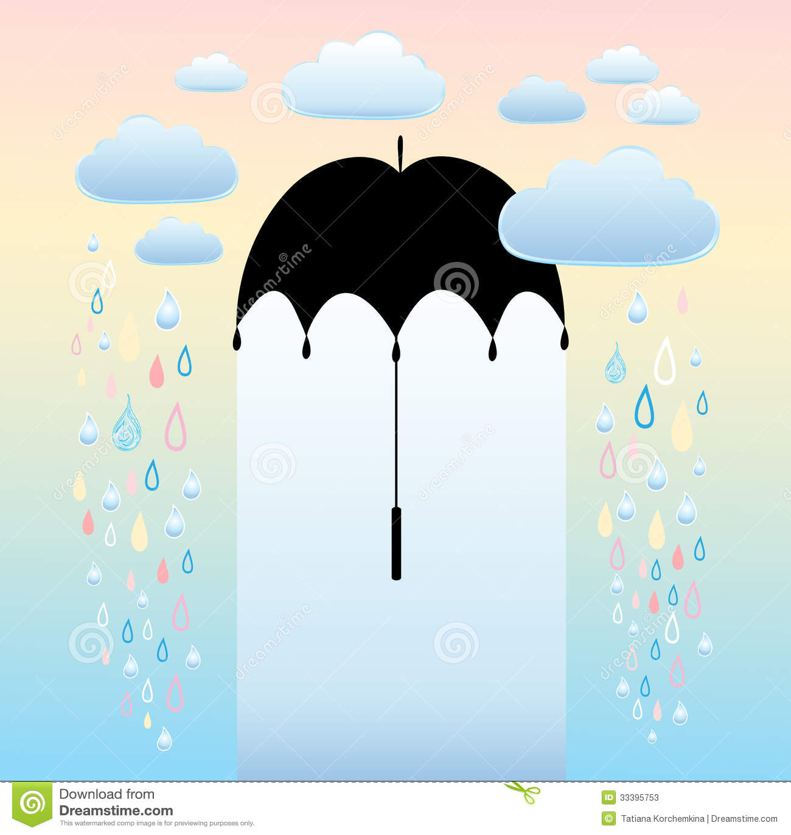 autumn background umbrella and rain stock vector image