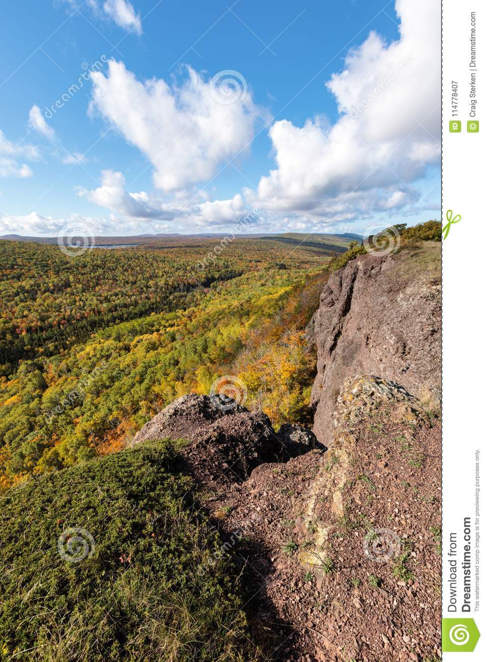 Autumn at Brockway Mountain in Copper Harbor Michigan