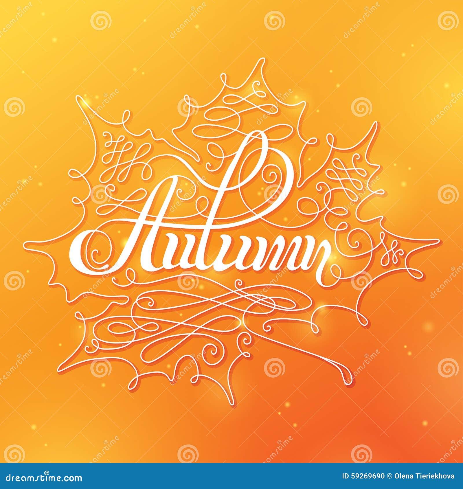 Autumn Calligraphic Background