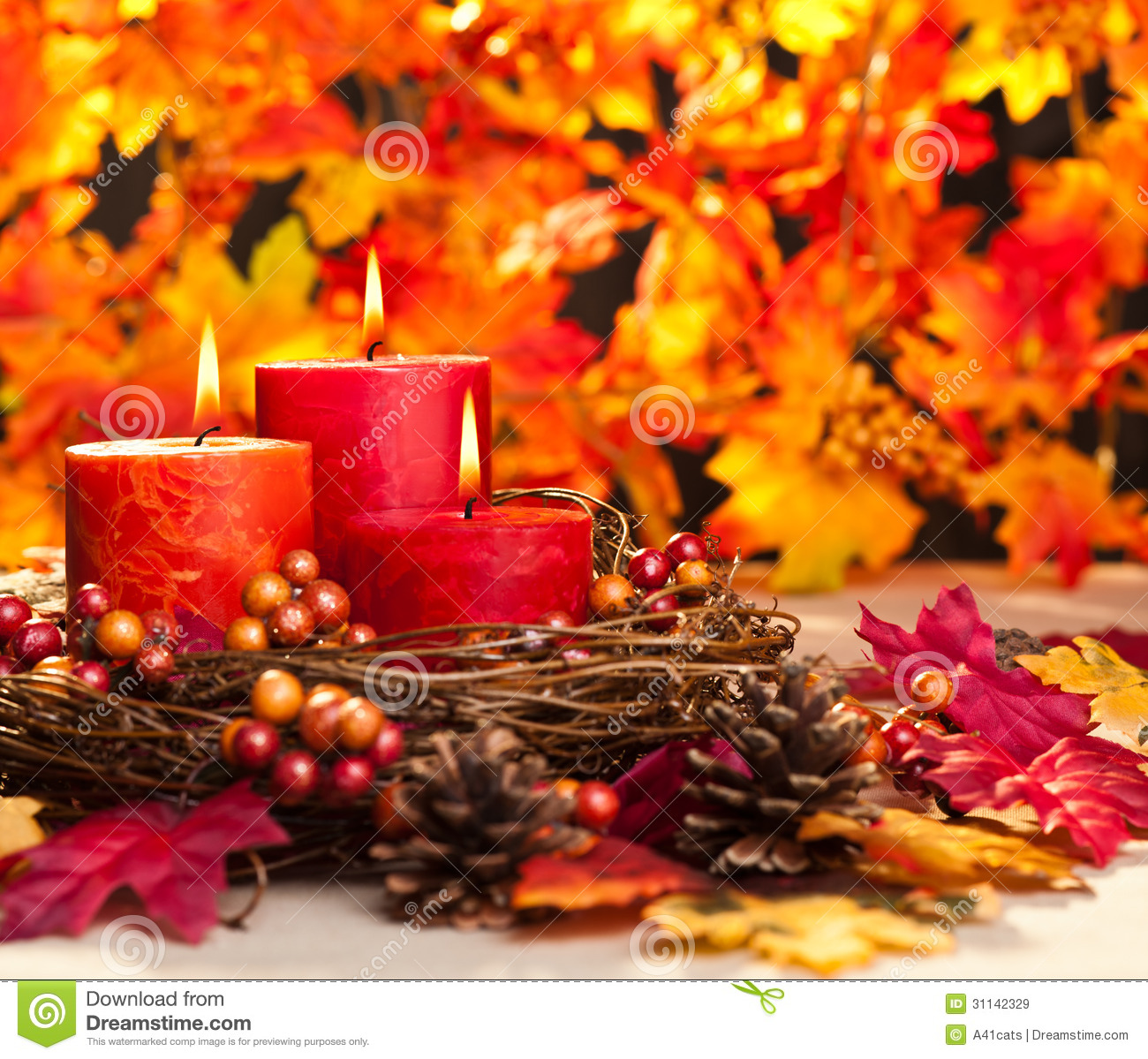 Autumn Candles Royalty Free Stock Images - Image: 31142329