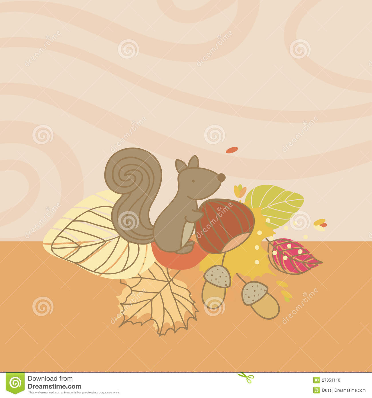 Autumn Card with Squirrel
