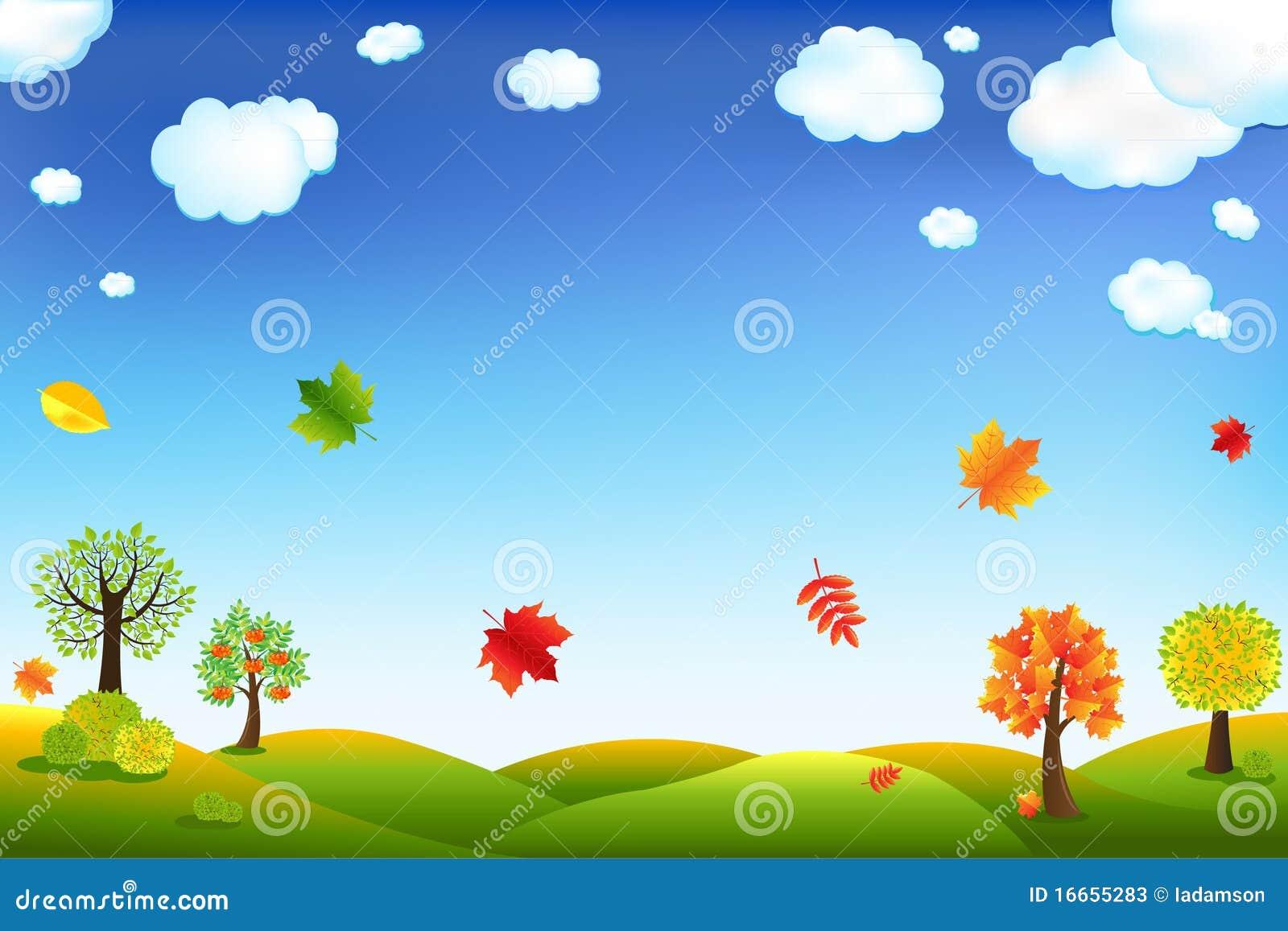 Autumn Cartoon Landscape Vector Stock Photos Image 16655283