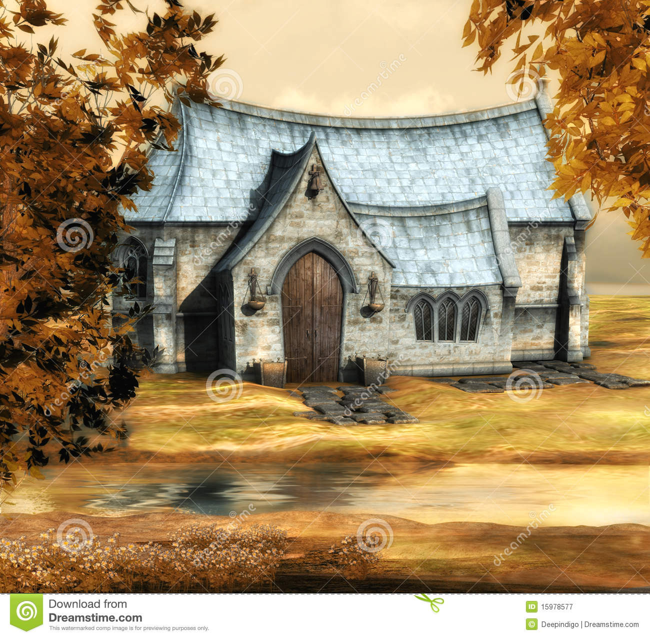 Autumn church
