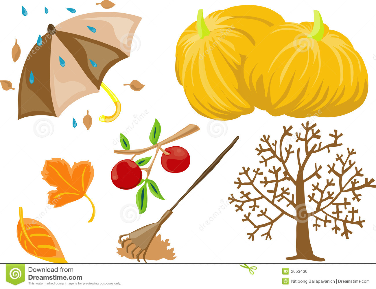 autumn clip art stock vector illustration of foliage 2653430 rh dreamstime com clip art autumn leaves border branch clipart autumn