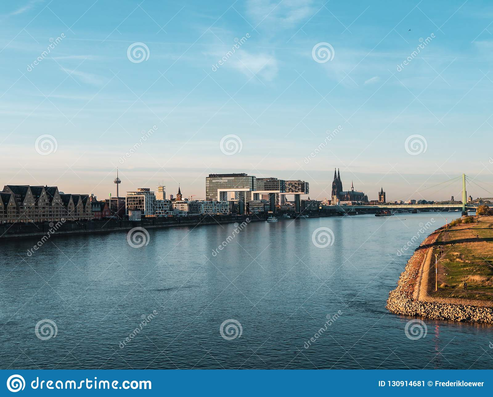 Autumn in Cologne: Cityscape of Cologne, Germany with Cathedral