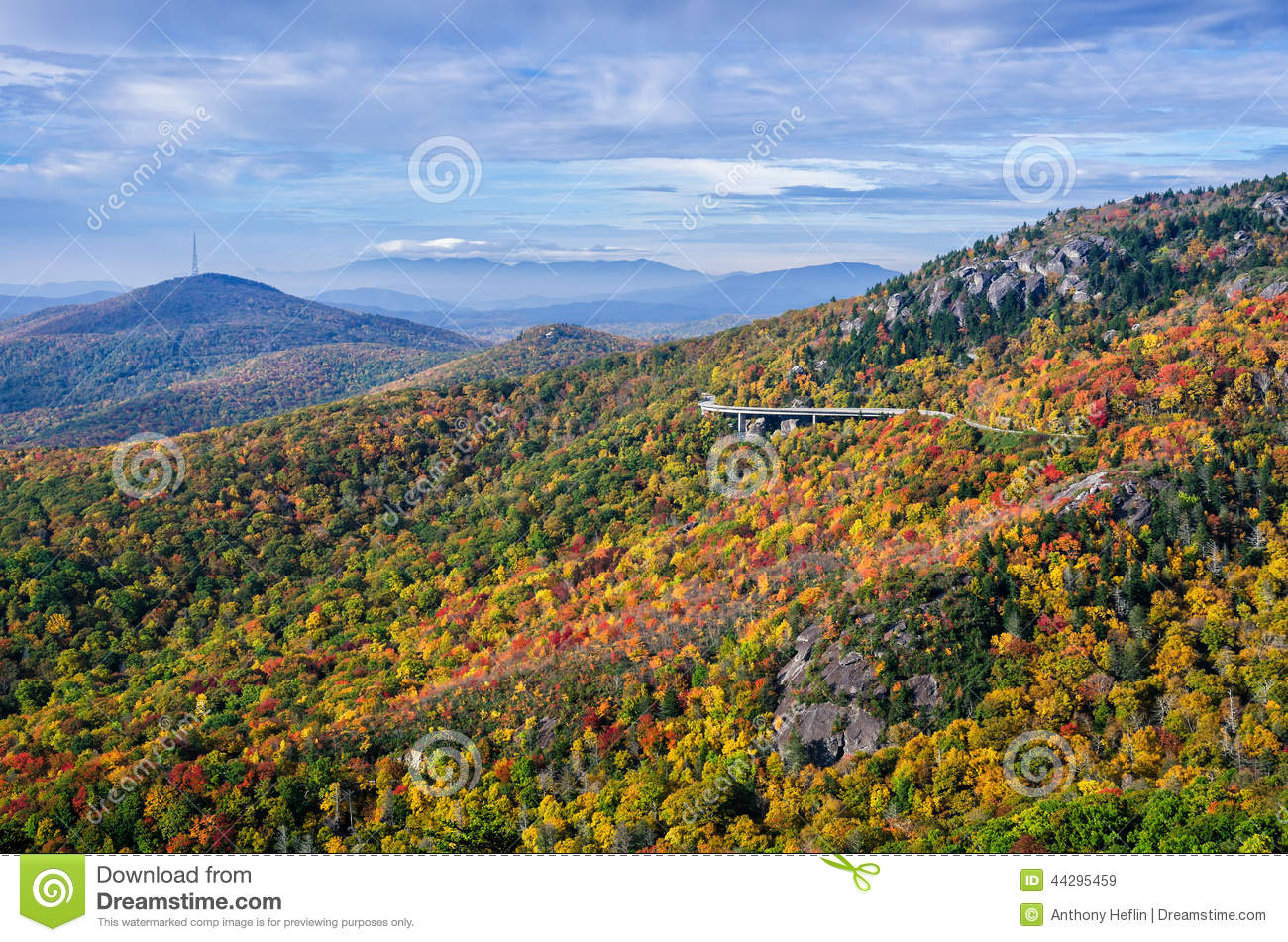 Autumn colors, Blue Ridge Parkway, North Carolina