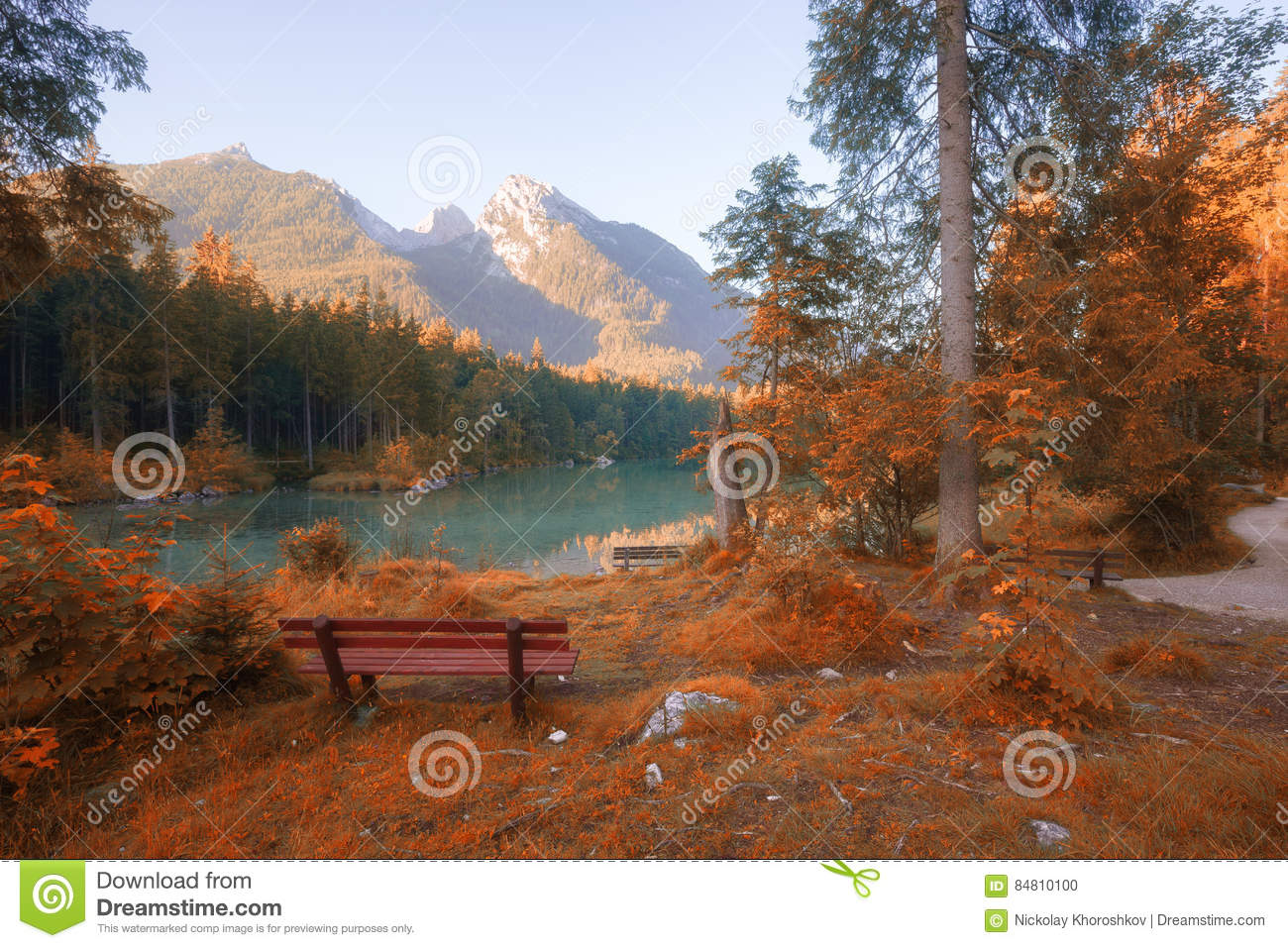 Download Autumn Colors Mountain Lake Stock Photo - Image of fall, outdoor: 84810100