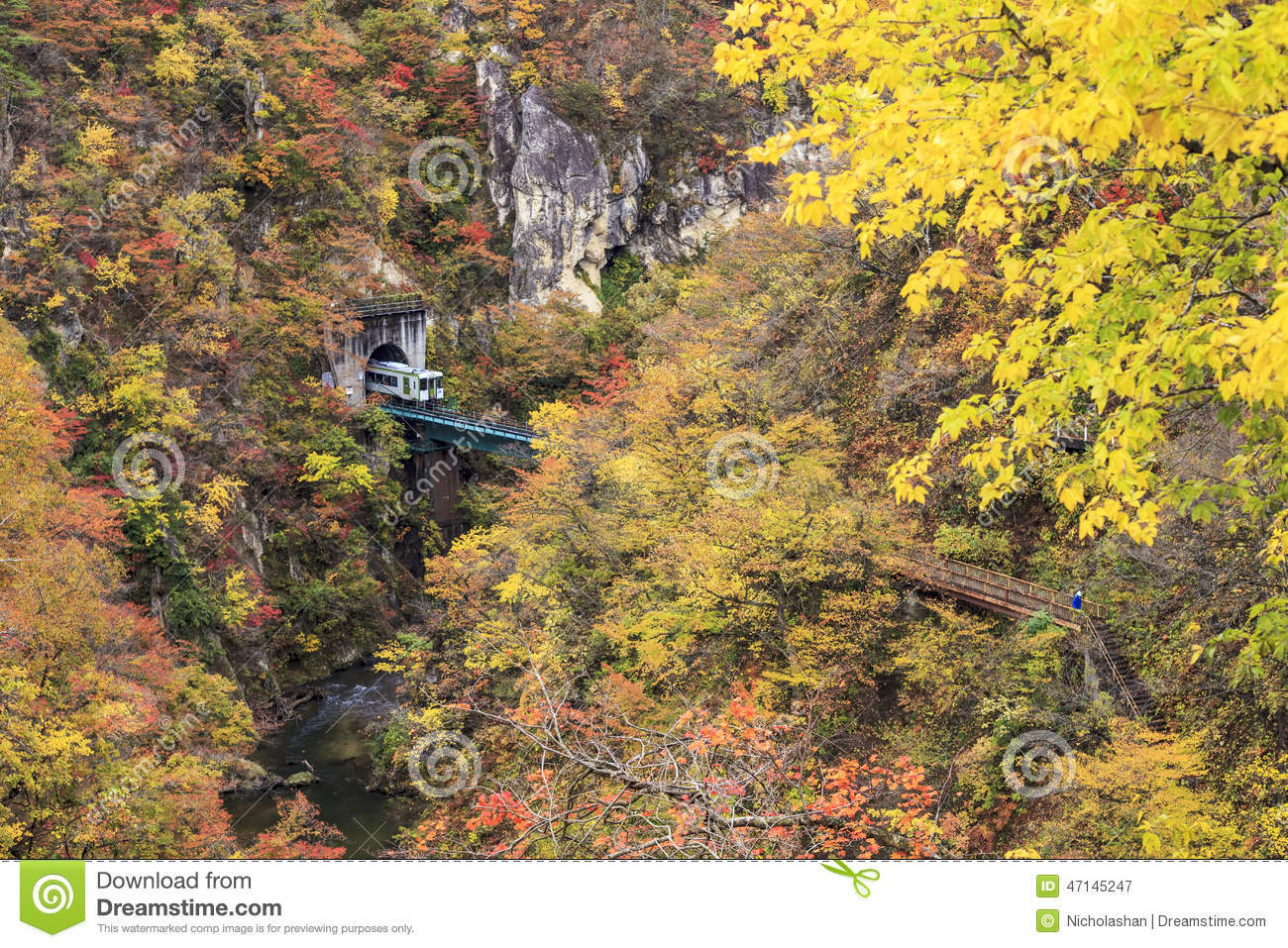 Autumn Colors von Naruko-Schlucht in Japan