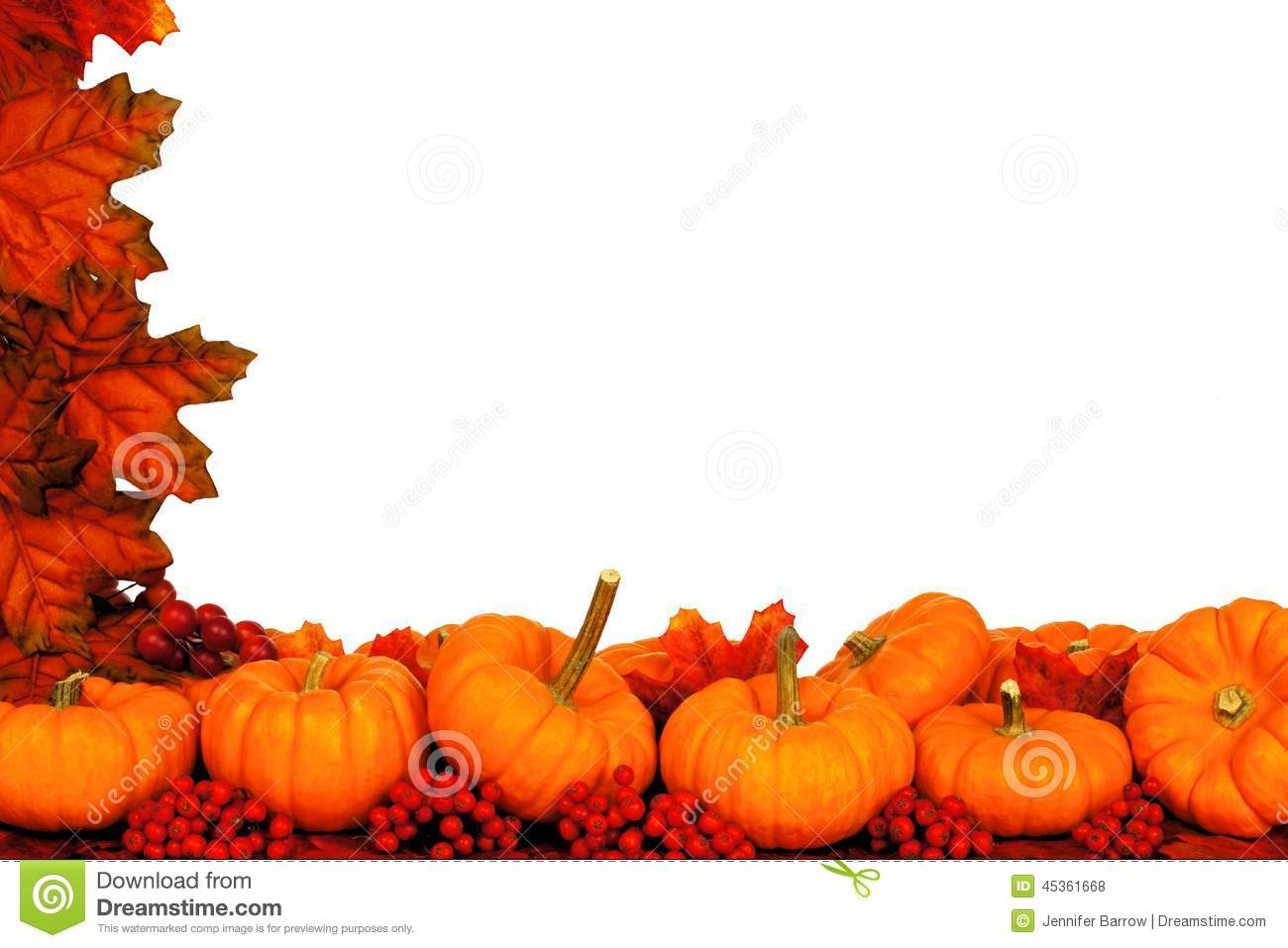 Autumn Corner Border Stock Photo - Image: 45361668