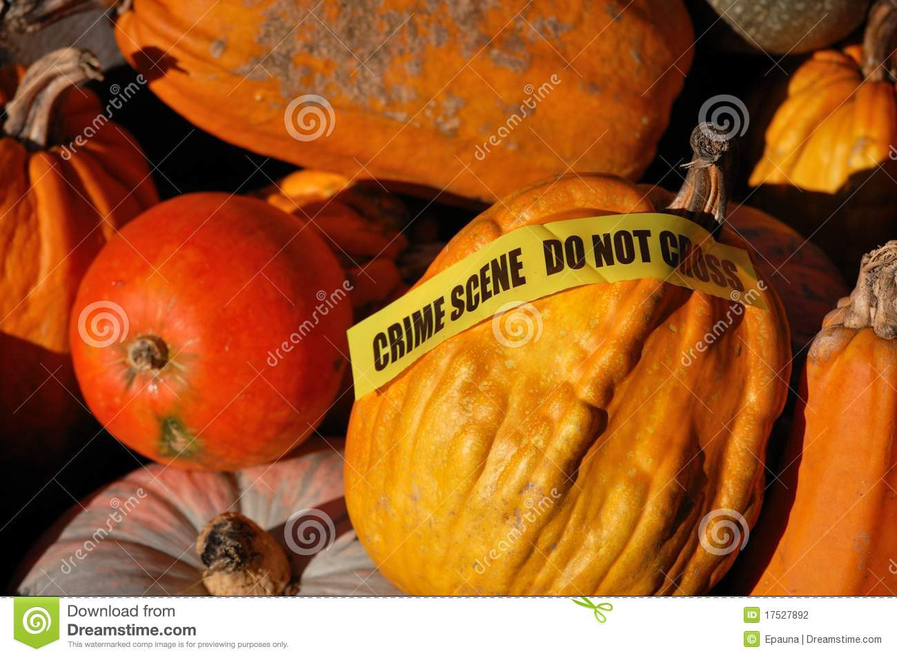 Autumn crime scene
