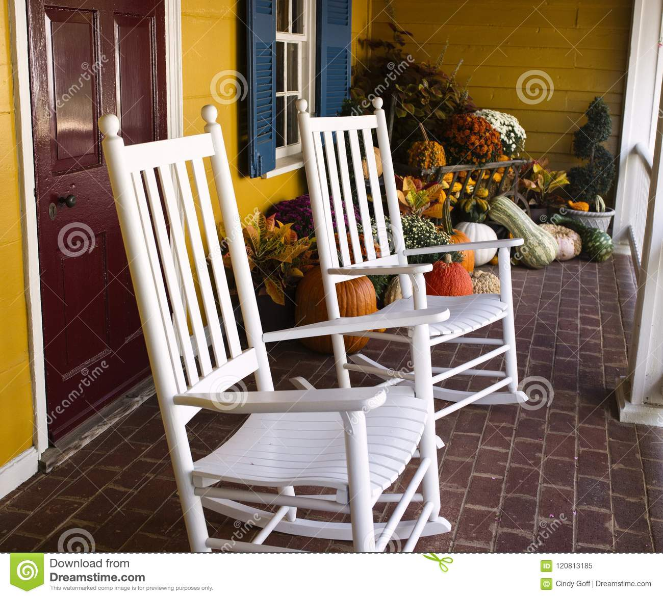 Miraculous Autumn Decoration In Virginia With Pumpkins And Rocking Gmtry Best Dining Table And Chair Ideas Images Gmtryco