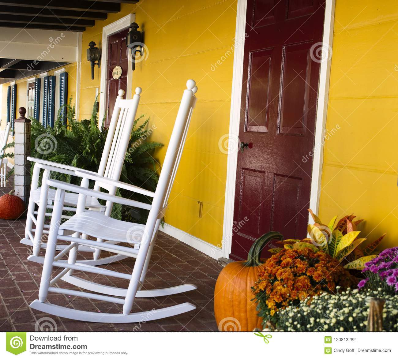 Terrific Autumn Decoration In Virginia With Pumpkins And Rocking Gmtry Best Dining Table And Chair Ideas Images Gmtryco