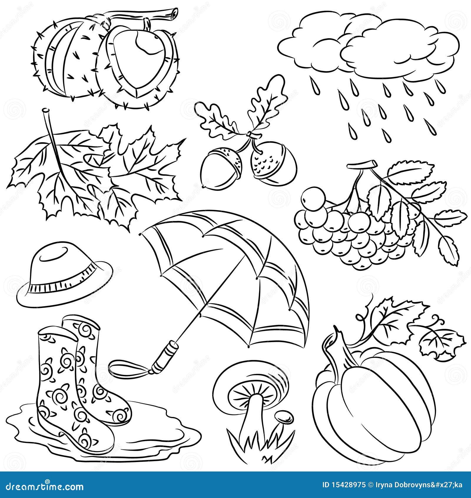 Autumn Doodles Royalty Free Stock Photo Image 15428975