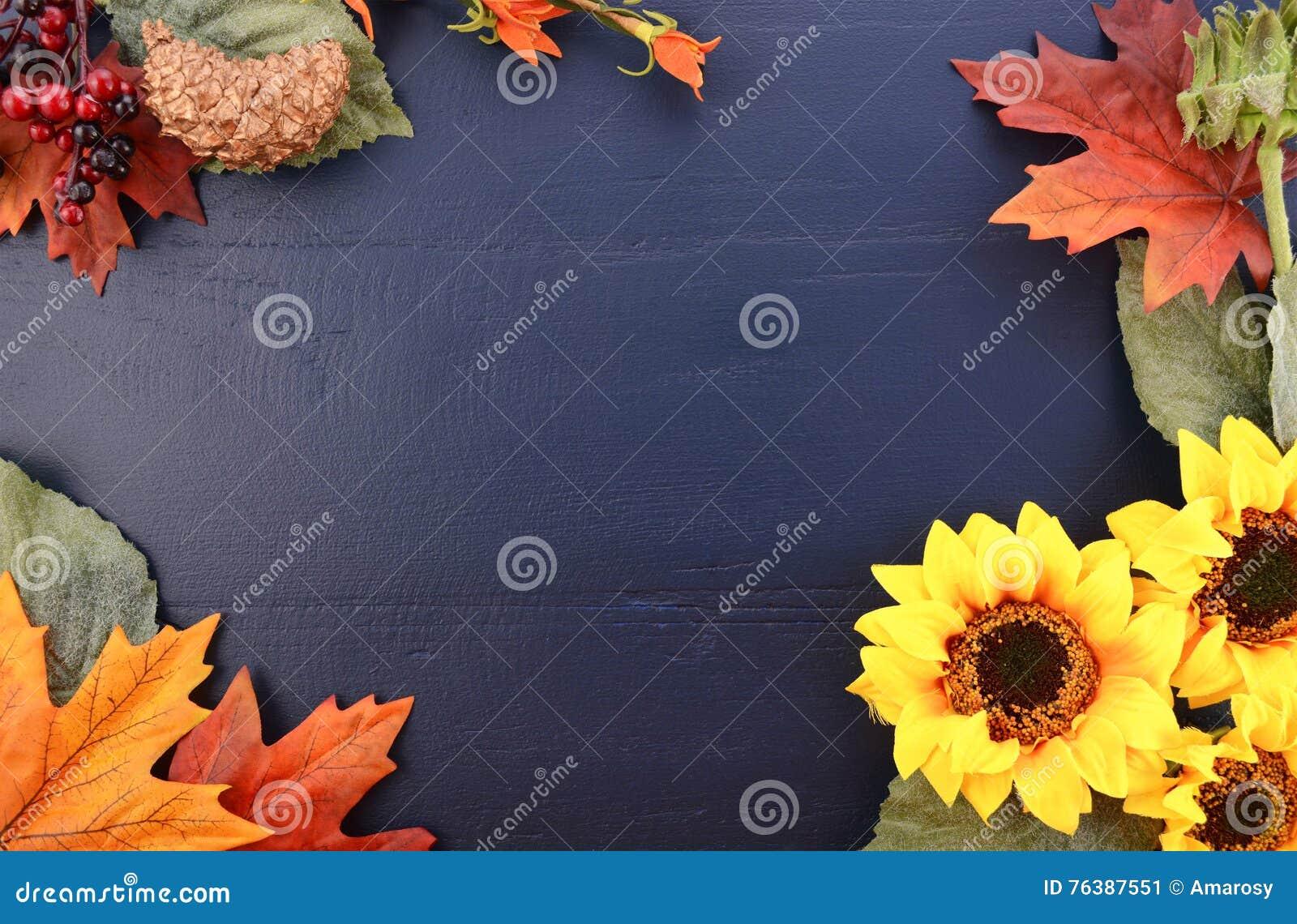 Autumn Fall Background con i confini decorati