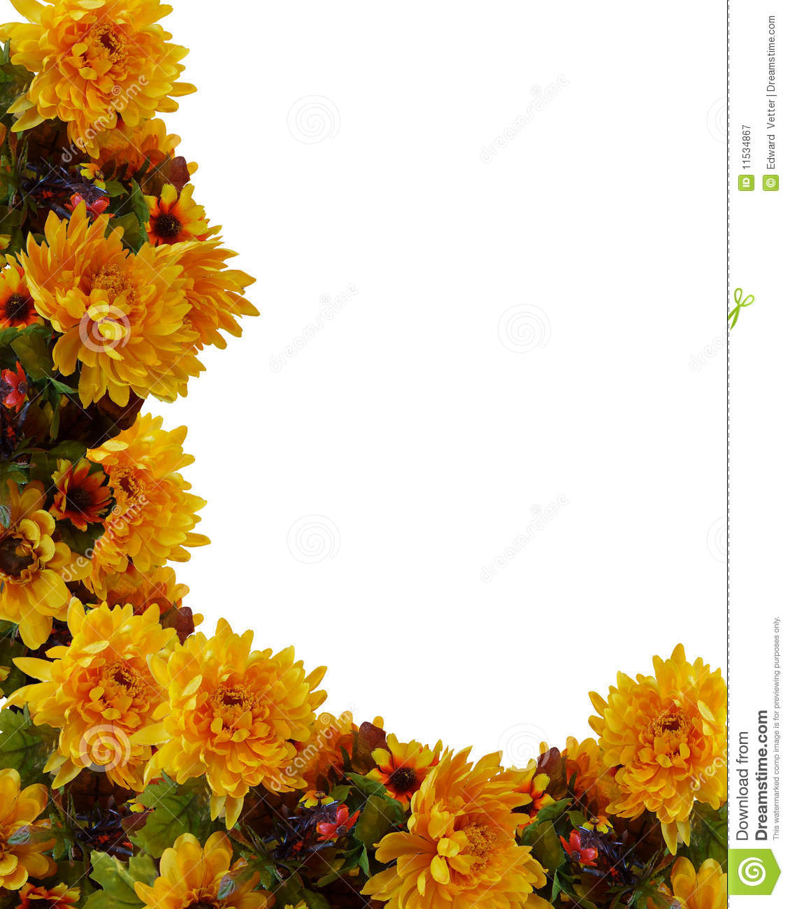 Autumn Fall Border Flowers Royalty Free Stock Photography