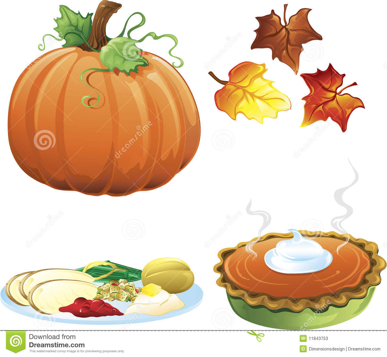 Thanksgiving Royalty Free Image >> Autumn And Fall Icons Stock Photos - Image: 11843753