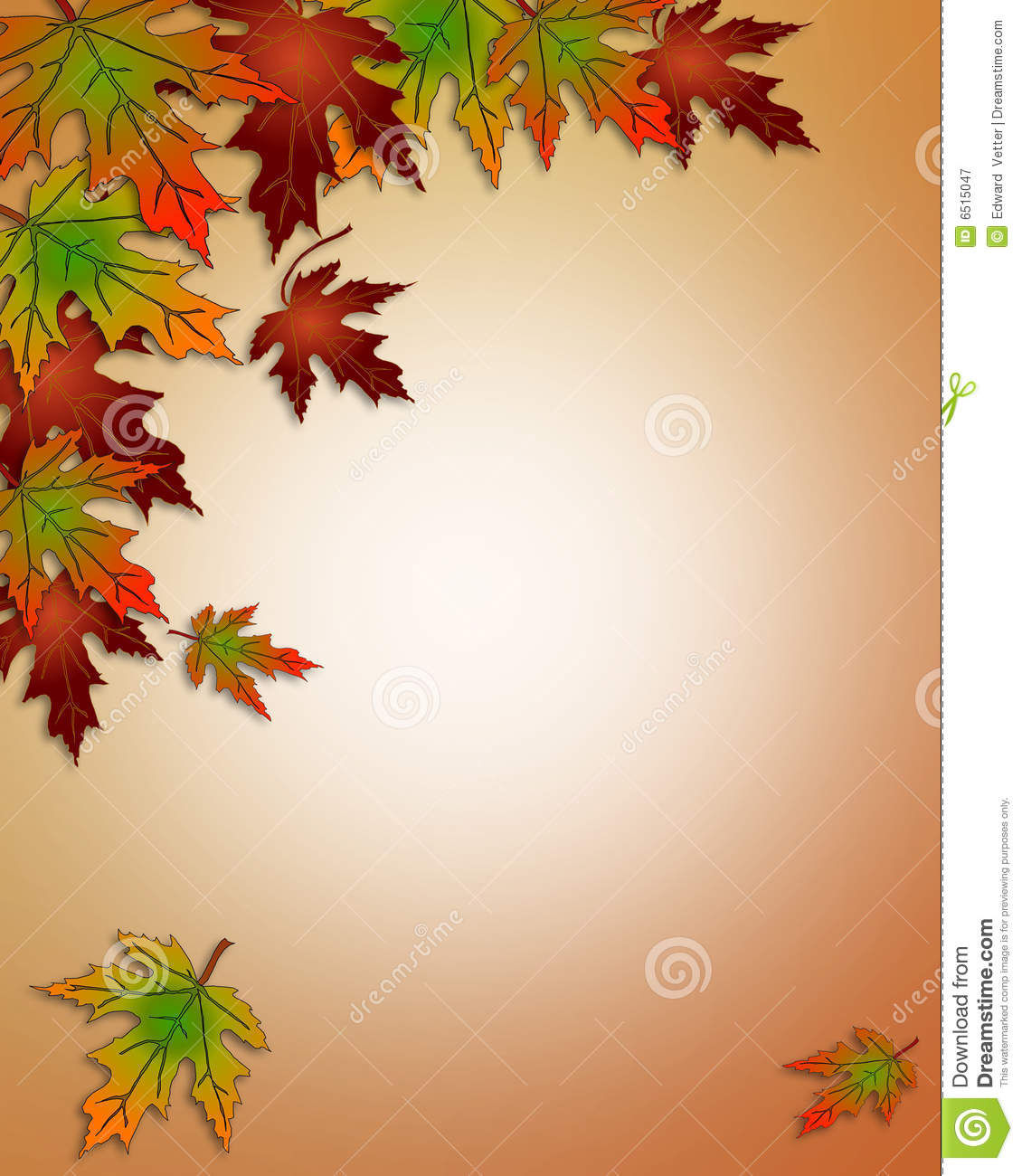 Autumn Fall Leaves Border Stock Illustration Image Of Harvest