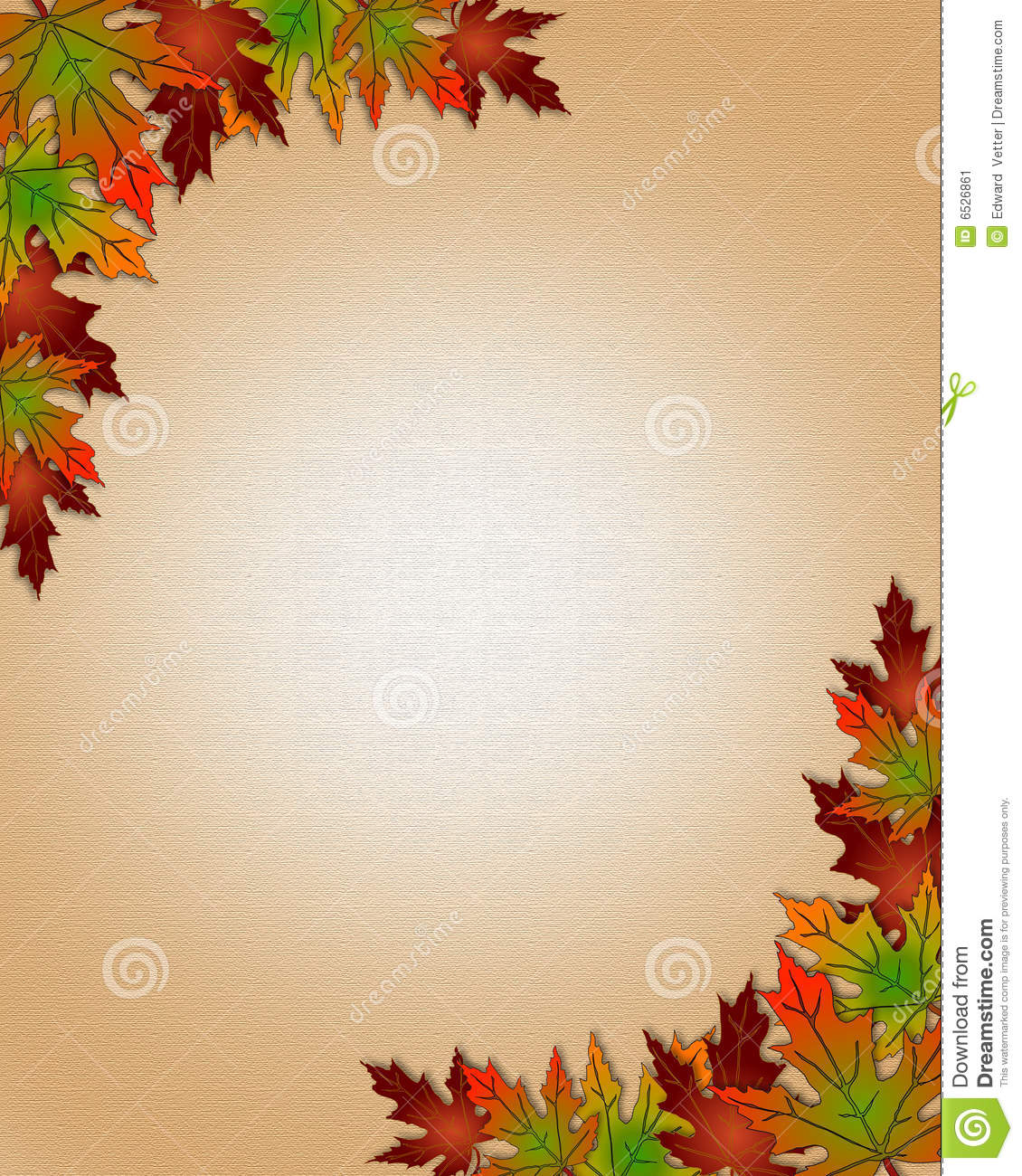 ... fall leaves for invitation, border or background with copy space