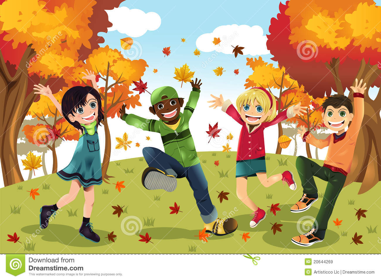 Autumn Fall Season Kids Royalty Free Stock Images - Image: 20644269