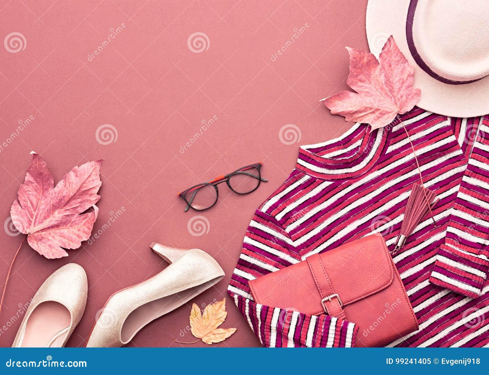 Autumn Fashion Lady Clothes Set Feuilles cru