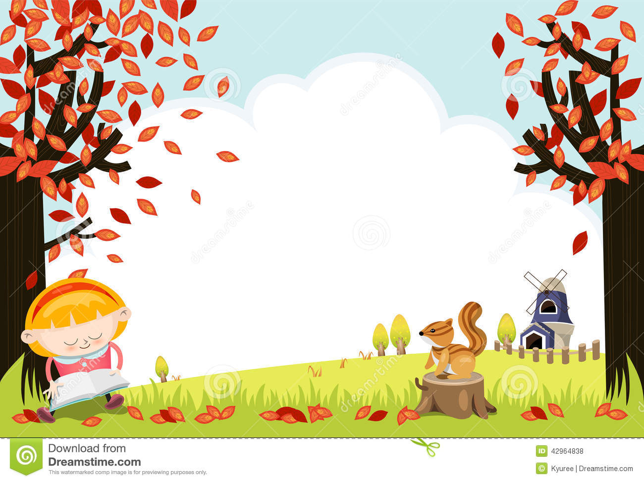 Autumn field frame stock illustration. Illustration of ...