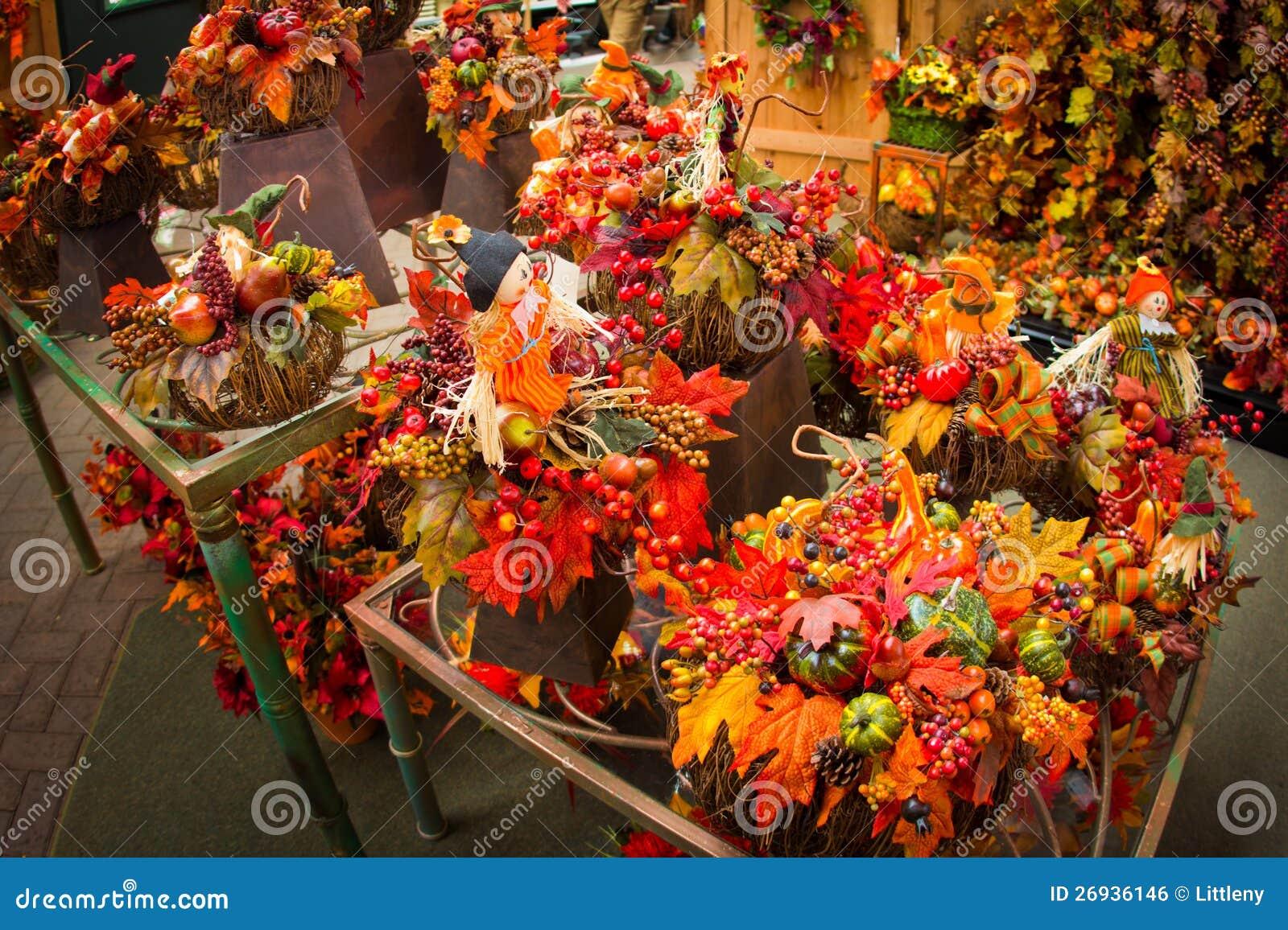Autumn Floral Arrangements Stock Photo Image Of Design